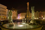 The Arion Fountain and The Holy Trinity Column (night view)